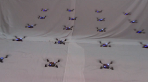 A swarm of quadcopters developed by a team from University of Pennsylvania