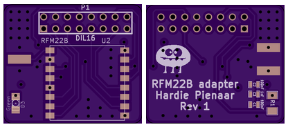 Top and bottom board layout of new raspberry pi spectrum analyser