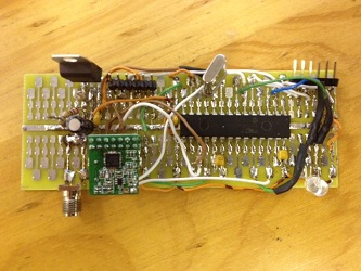 Soldered working version without SD card